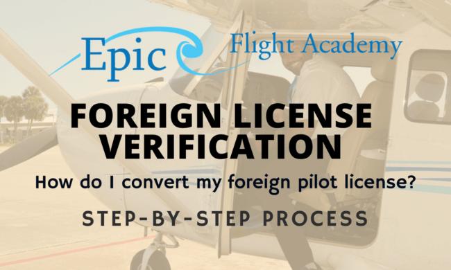 Convert Foreign Pilot License - Epic Flight Academy