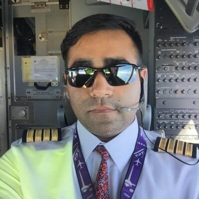 Mayank Goyal trained at Epic and now flies for Qatar Airways