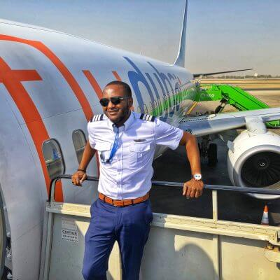 Timothy Dami Iyela trained at Epic and flies for Flydubai