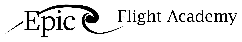 Epic Flight Academy Black and White Logo