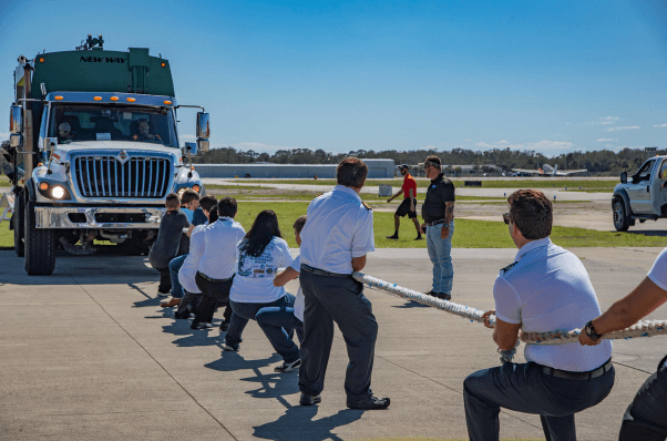 Epic Flight Academy Garbage Truck Pull Contest