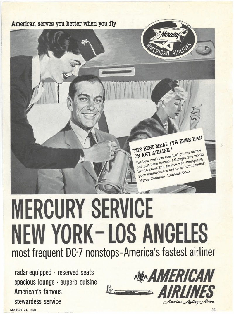 DC-7 ad for nonstop flight