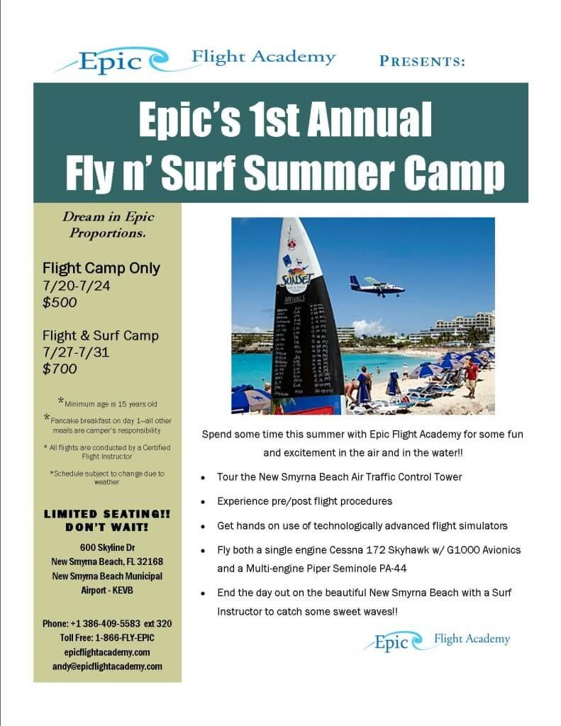 Epic Fly N Surf Summer Camp