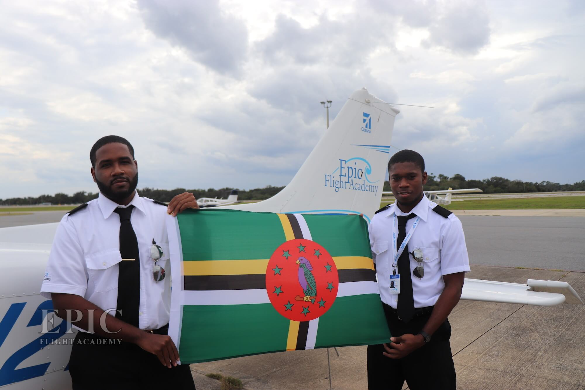 Epic Flight Academy students from Dominica