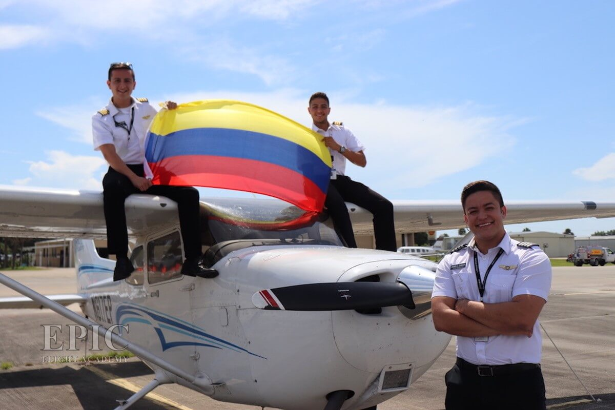 Colombian Students Epic Flight Academy