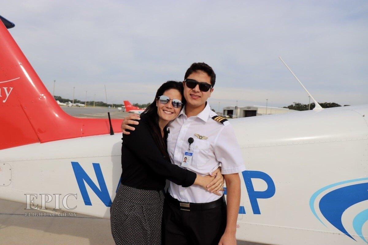 Guilherme El Hadi and Mom