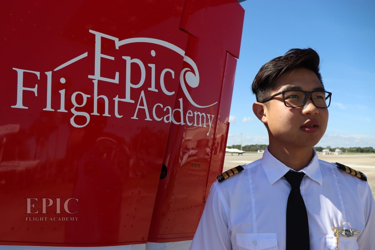 Stephen Salim earned his Commercial Pilot License at Epic Flight Academy.