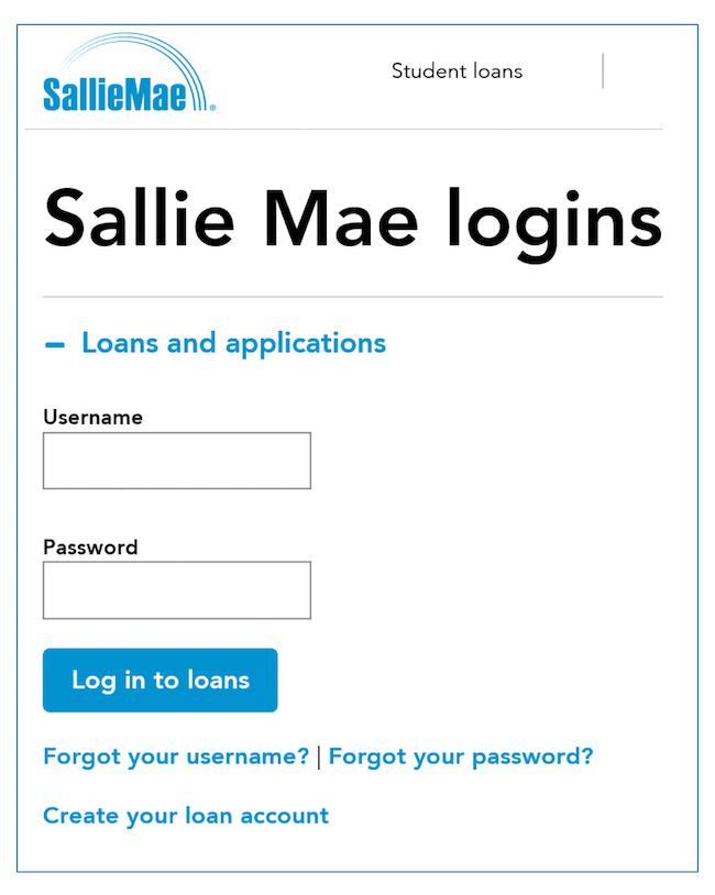 Sallie Mae Online Loan Management