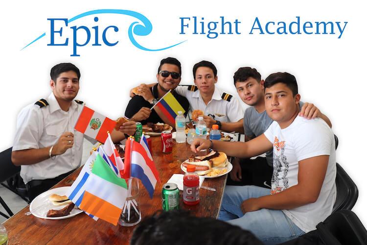 International Flight School Students