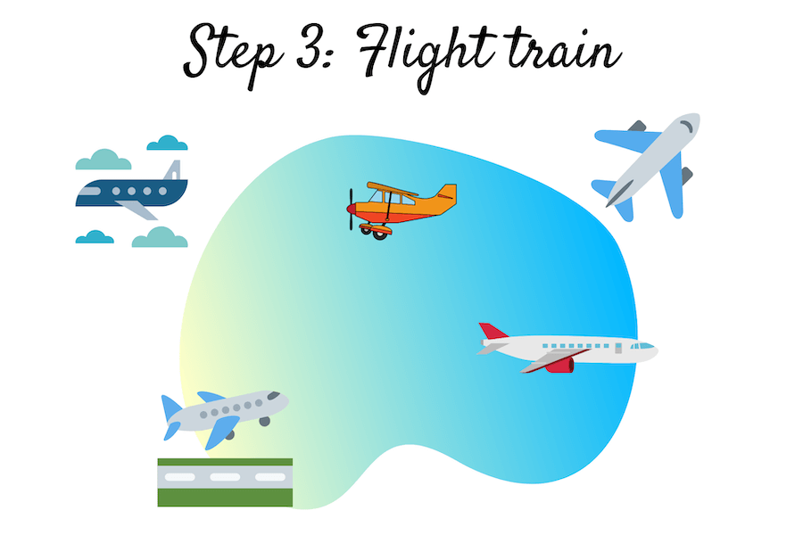 Step 3 Flight Train
