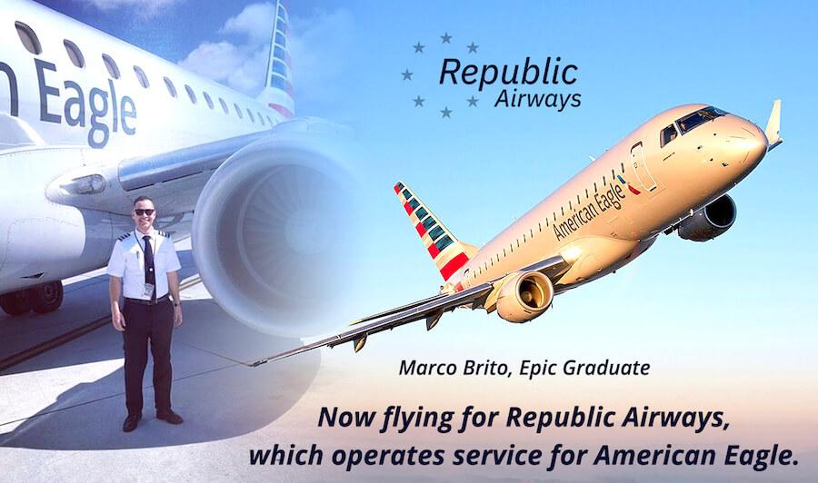 Epic Graduate Flies for Republic Airways