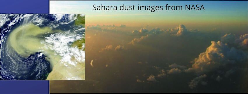 Sahara Dust Images from NASA