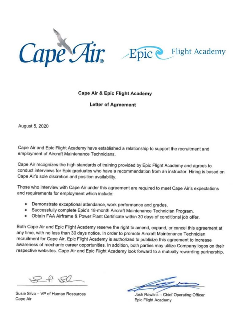 Cape Air is a hiring partner for Epic Flight Academy graduates