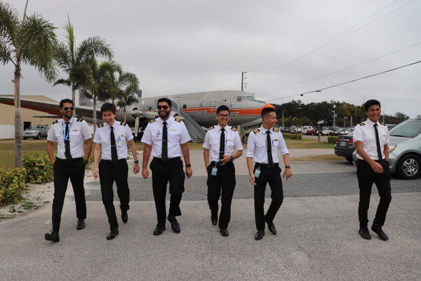 Epic flight students in uniform