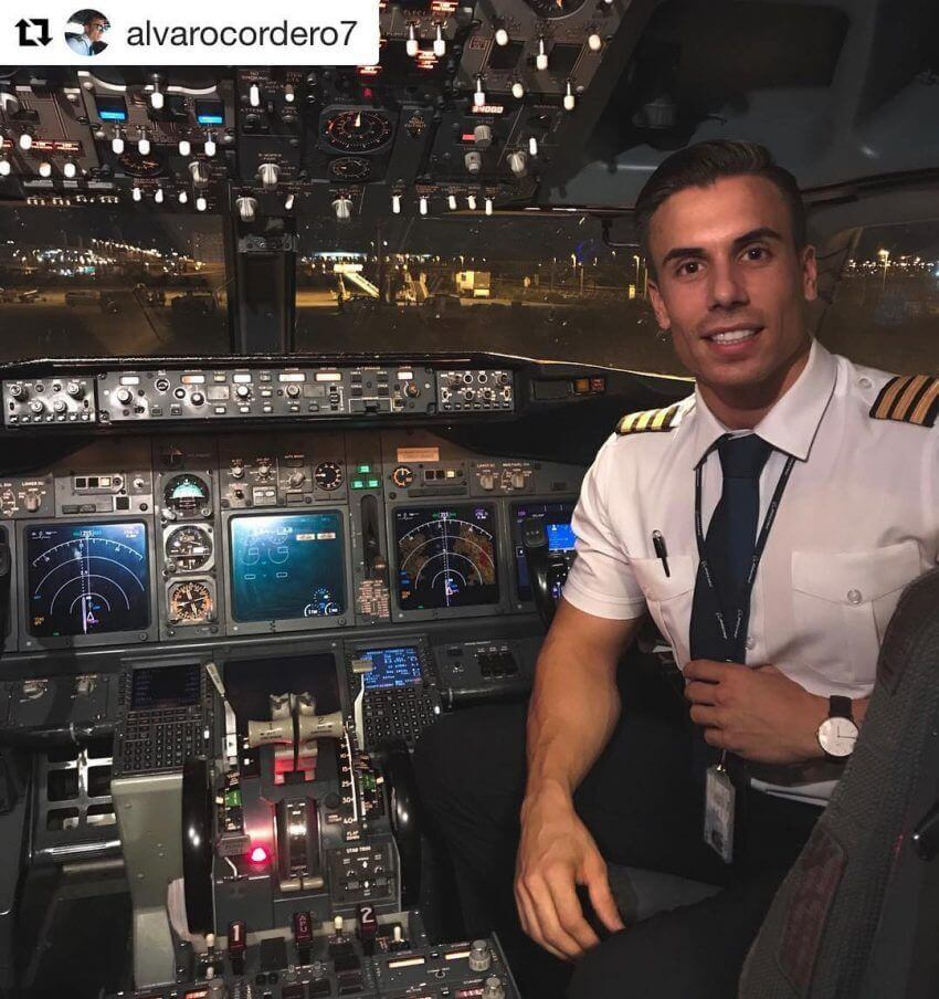 Epic grad flying for commercial airlines