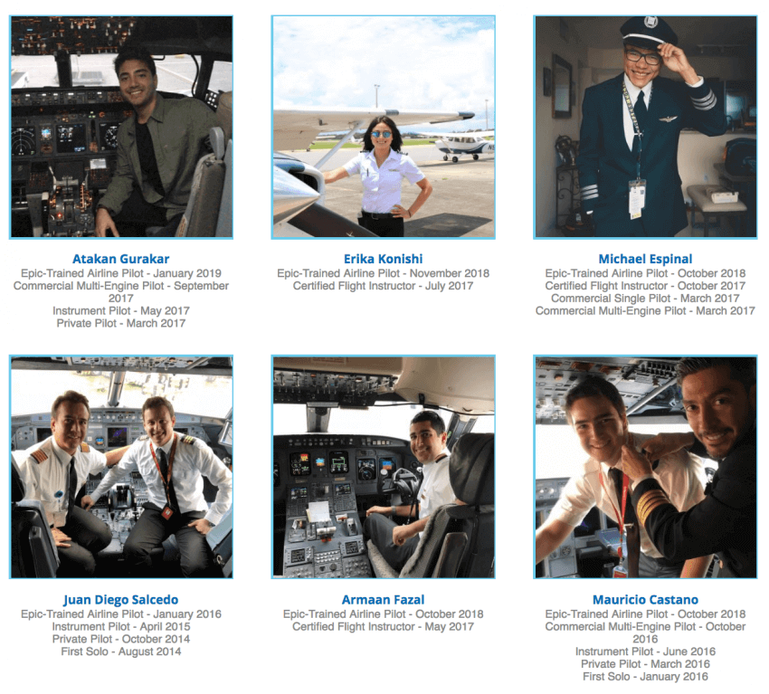 Epic-Trained Airline Pilots