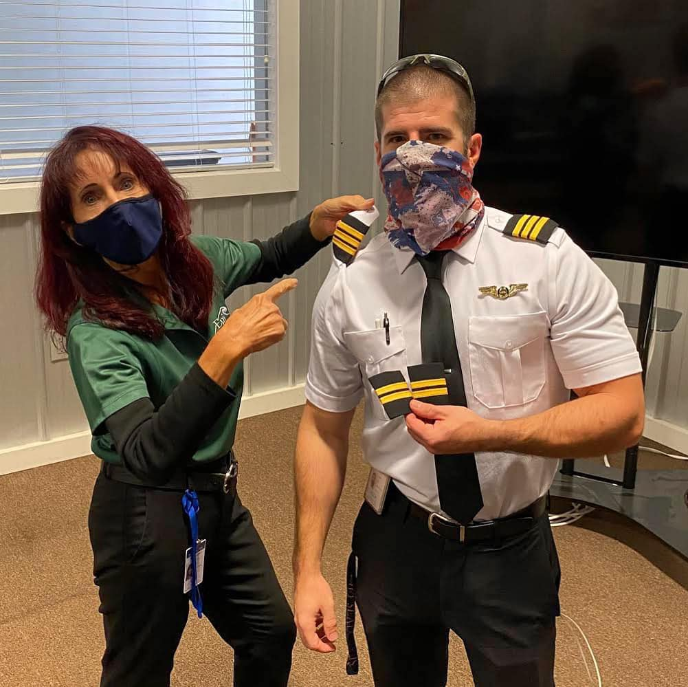 Captain Judy and Bruno from Brazil in Epic's Pilot Program