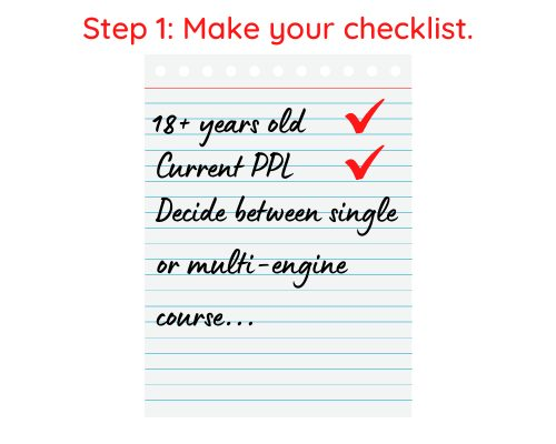 Step 1 Commercial Pilot License