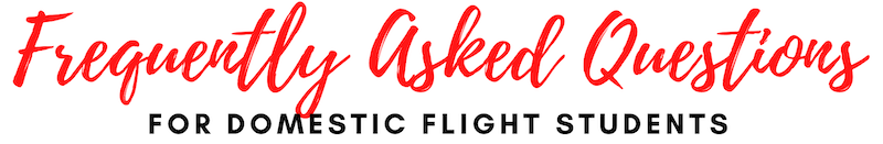 FAQs domestic professional pilot commercial airline training