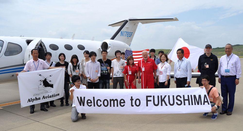 Judy Rice in Fukushima